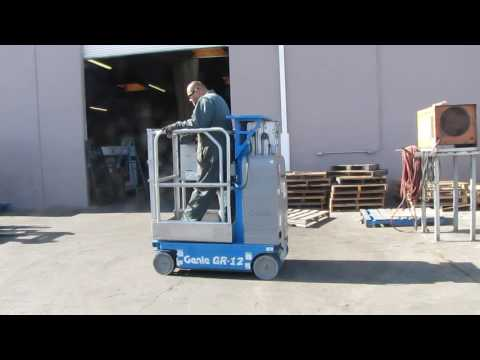 Genie GR-12 Manlift Scissor Lift Aerial Electric Man Lift 500 lbs awp