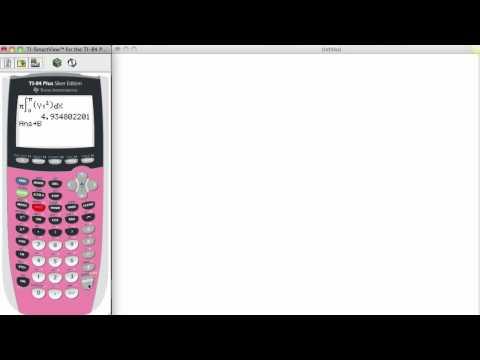 Integrals with TI-84 Calculator