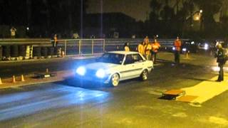 Overpowered car at Cape Town Killarney Street2Strip drag racing....lots of HP!!