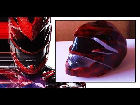 Como hacer / Casco Power Ranger Rojo/ DiY RED RANGER HELMET MOVIE 2017