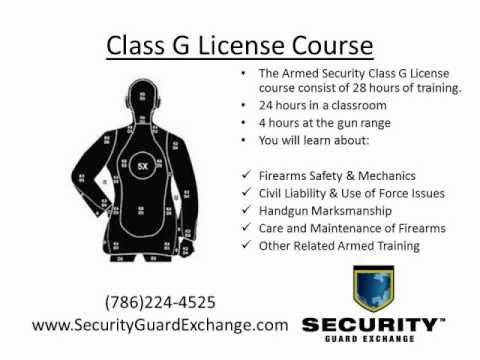 Florida Class G Security License Miami