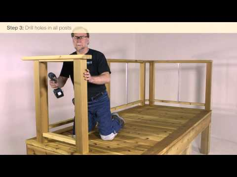 Feeney CableRail Wood Level Railing Installation Video