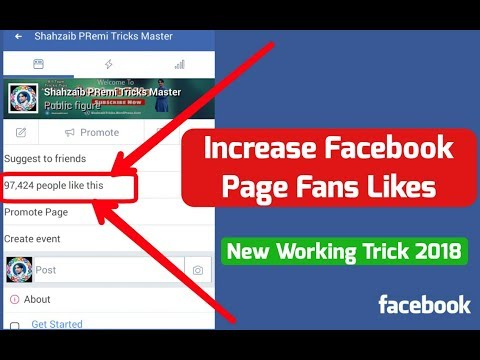 How To Increase Facebook Page Fans Likes/ Working Method 2018