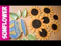 How to Make Sunflower With Paper Plate & Black Tea (Easy DIY) - Shamcraft