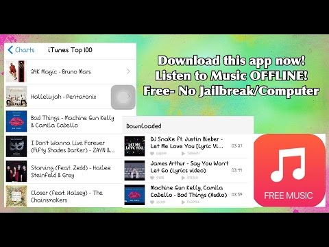 How to Download and Listen to Music OFFLINE Free! - No Jailbreak/Computer