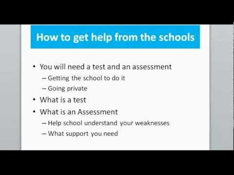Webinar 3 - Dyslexia testing and assessments