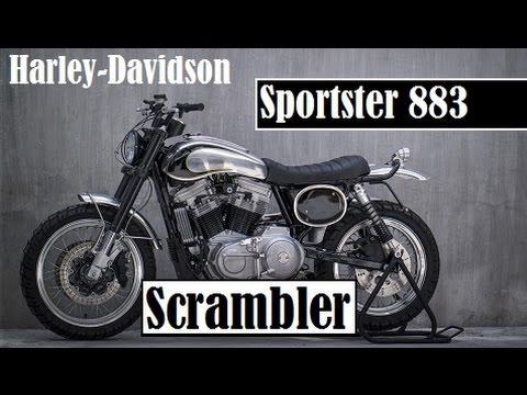 Harley-Davidson Sportster 883 Scrambler, the latest creation by Benjie's Café Racers