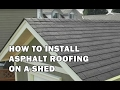 How to Build a Shed - How To Install Asphalt Roofing Shingles on a Shed - Video 13 of 15