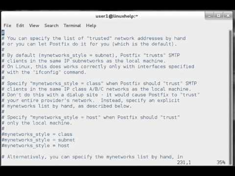How to configure SMTP POSTFIX MAIL in Linux