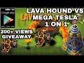 World record lava hound vs mega tesla    COC what happens next