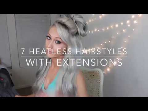 7 Heatless Hairstyles using Clip-in Hair Extensions - LUXURY FOR PRINCESS