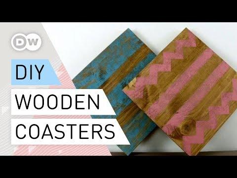 DIY - Wooden coasters