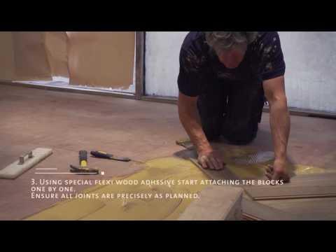Herringbone Wood Floor Step-By-Step Installation