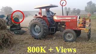 How to Start & Plug Thresher with Massey 385 Tractor New Model