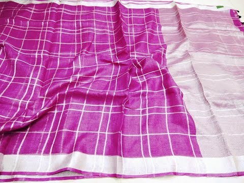 Latest pure 100% linen trendy sarees collections │Linen saree│Linen saree with price│Best Creations