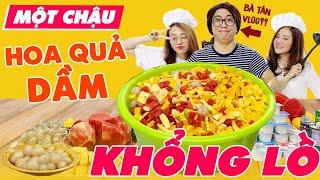 Vào Bếp Cùng Bà Yến Vlog : Chậu hoa quả sữa chua khổng lồ siêu cay !