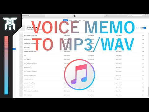 How To Convert Voice Memos To MP3 / WAV In iTunes (2018)