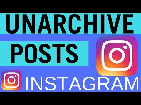Instagram: How to Unarchive Posts