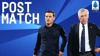 Fiorentina 3-4 Napoli | Montella & Ancelotti Post Match Press Conference | Serie A