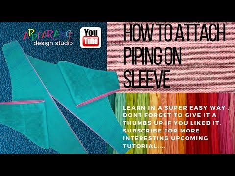How To Make Piping [Easy DIY] sleeve piping