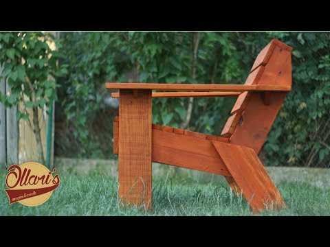 Make a Simple Outdoor Chair with Limited Tools -  DIY Pallet Wood Project
