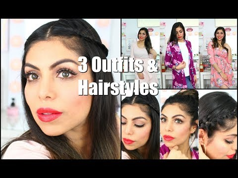 3 SPRING Outfit Looks and Easy Hairstyles | FABIOLAG