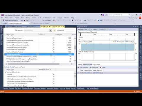 Using Visual Studio Diagnostic tools to investigate memory issues