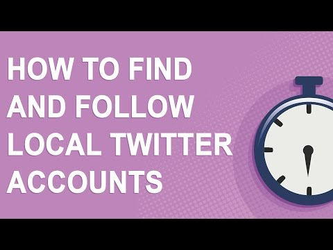How to find and follow local Twitter accounts in your area