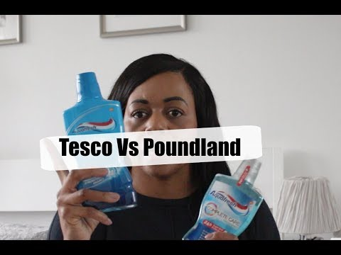 Tesco Vs Poundland Comparison