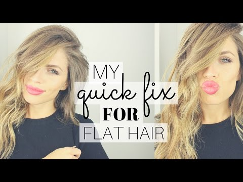 My Quick & Easy Fix for Flat Hair