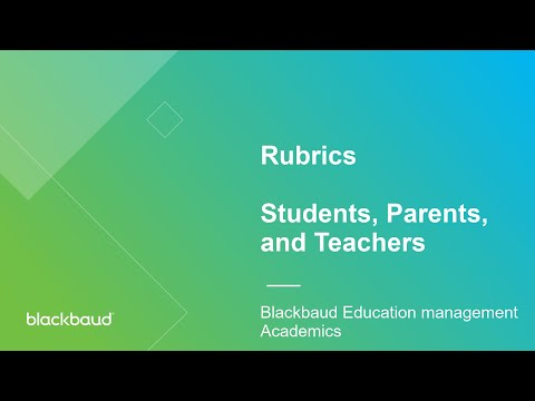 Rubrics for Teachers and Students in onCampus