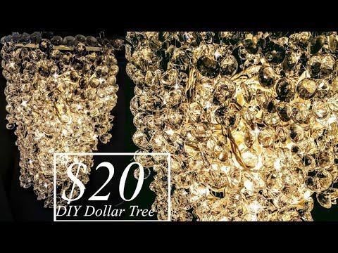 DIY Dollar Tree GLAM 3 Tier Chandelier | Home Decor | Wedding Ideas | Hanging Centerpiece