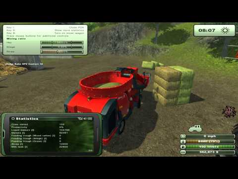 Feeding the cows in Farming Simulator 2013