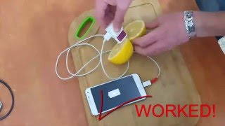 How I charge my phone with a lemon