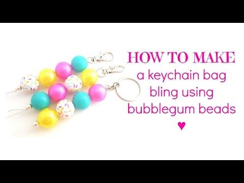 HOW TO MAKE | Bubblegum Bead Keyring
