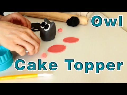 How to make Sugar Paste Fondant Owl Cake Topper | HappyFoods