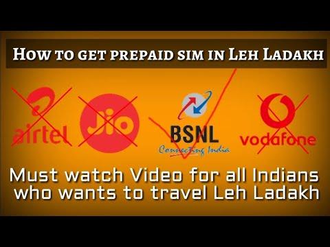 How to Get Prepaid Sim During Leh-Ladakh Road Trip