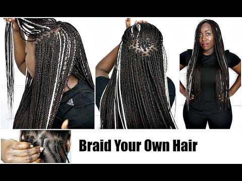 How to Braid Your Own Hair With Highlights On Natural Hair