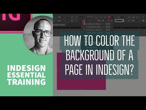 How to color the background of a page in InDesign? - InDesign Essential Training [9/76]