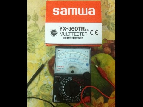 How to test Cells, Batteries or House Voltage Supply using Analog Multimeter SAMWA YX-360tr
