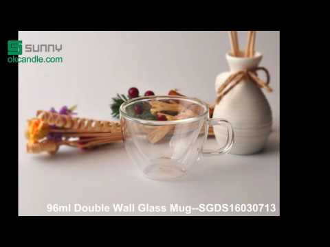 2016 borosilicate double wall glass mugs, ideal for coffee cup or hot tea cup