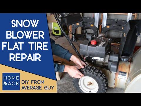 Snowblower flat tire repair