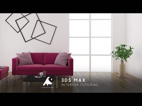 White Interior Design of Living Room / Beyaz Ev Tasarım 3DS Max + Photoshop