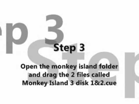 How to run The curse of monkey island  on scummVM.wmv