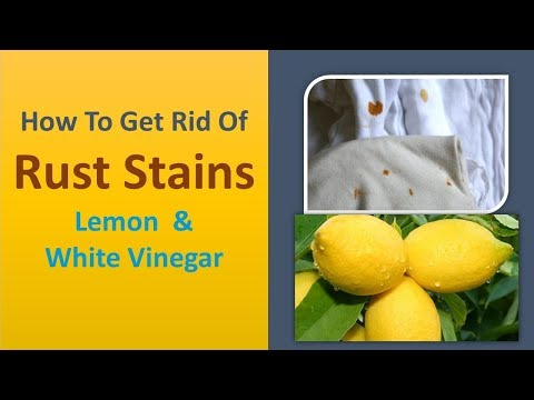 how to get rid of rust stains from clothes - lemon  & White vinegar