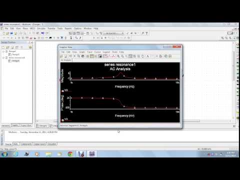 multisim simulation for series resonance