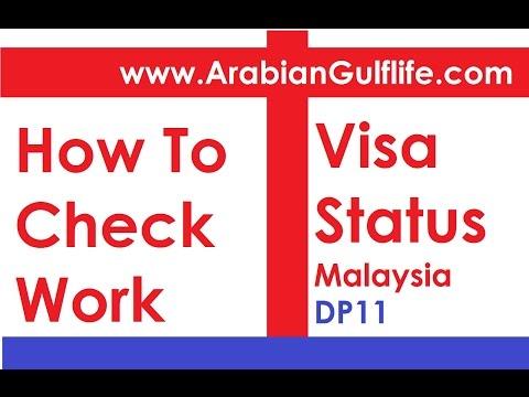 Check Malaysia Work Visa Permit Status DP11