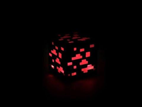 Minecraft PE: How to build Redstone ore lamp