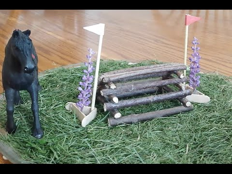 How to make a Schleich Log Pile Cross Country Jump