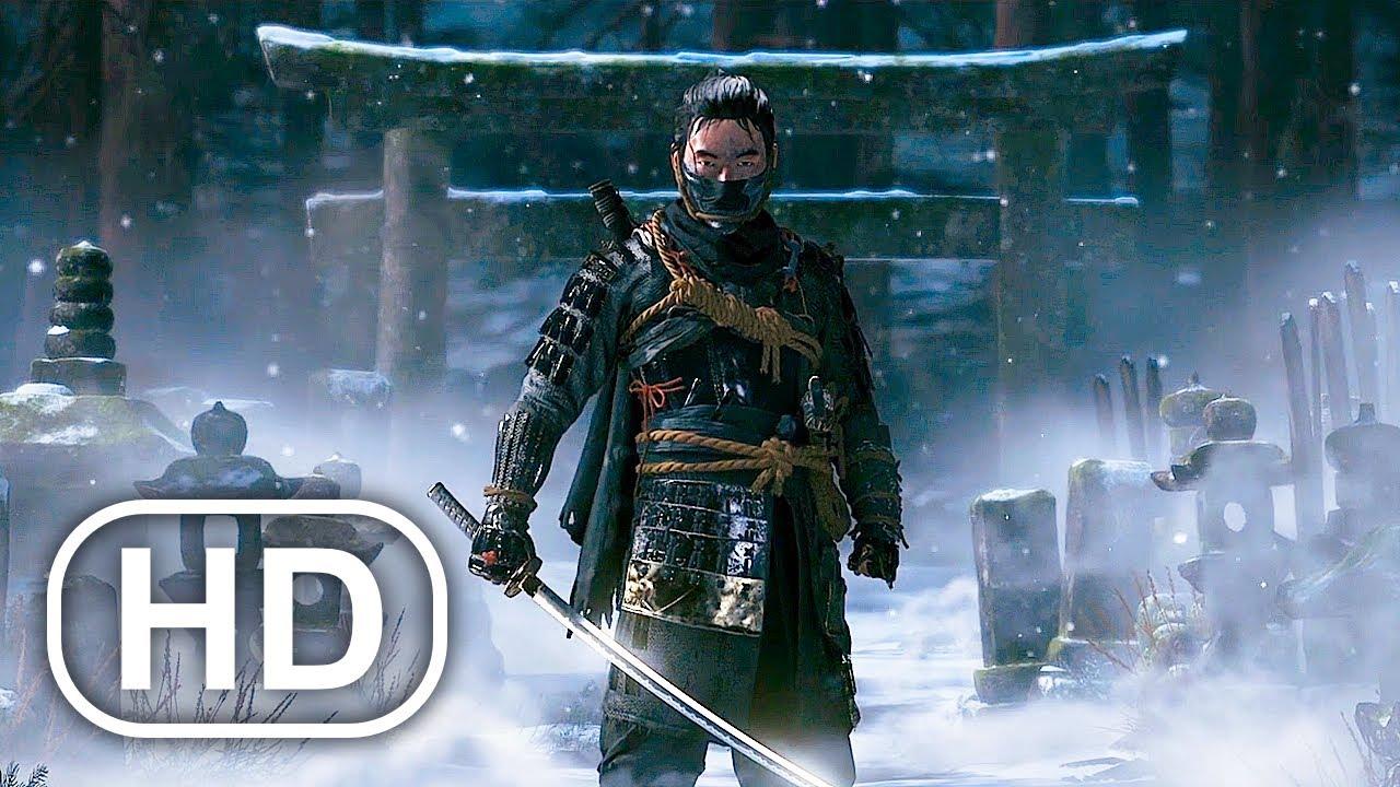 GHOST OF TSUSHIMA Full Movie Cinematic (2021) 4K ULTRA HD Samurai Action